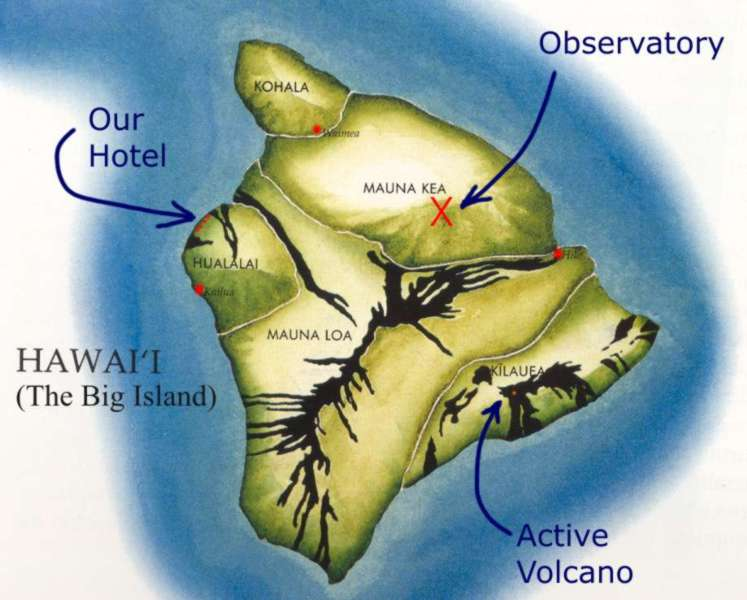 Figure 1 - Map: The Big Island of Hawaii
