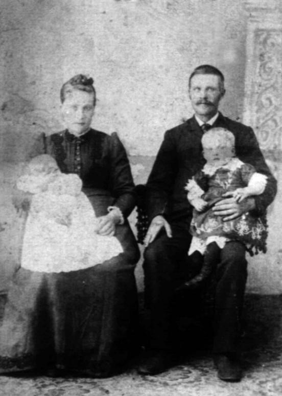 Petter and Emerentse North Dakota 1894 with Olga and Lars